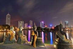 Ορίζοντας Colombo στη Σρι Λάνκα τη νύχτα στοκ εικόνες