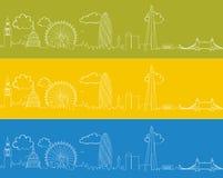 Ορίζοντας Doodle του Λονδίνου Στοκ Φωτογραφία
