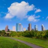 Ορίζοντας Huston από το πάρκο Τέξας ΗΠΑ της Eleanor Tinsley στοκ εικόνες