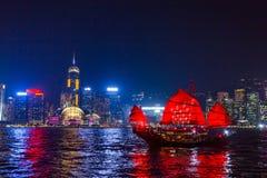 Ορίζοντας Kowloon Χονγκ Κονγκ από το ηλιοβασίλεμα λόφων ΜΚΟ Shan Fei Στοκ εικόνα με δικαίωμα ελεύθερης χρήσης