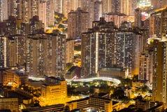 Ορίζοντας Kowloon Χονγκ Κονγκ από το ηλιοβασίλεμα λόφων ΜΚΟ Shan Fei Στοκ φωτογραφίες με δικαίωμα ελεύθερης χρήσης