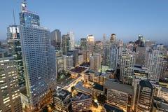 Ορίζοντας Makati στη Μανίλα - τις Φιλιππίνες Στοκ Εικόνα