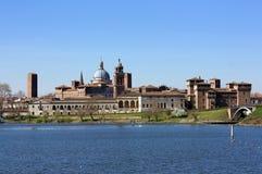 Ορίζοντας Mantova σε μια ηλιόλουστη ημέρα Στοκ εικόνες με δικαίωμα ελεύθερης χρήσης