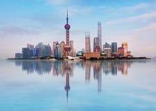 Ορίζοντας Shangahi, Κίνα στοκ εικόνες