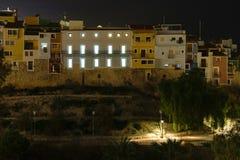 Ορίζοντας Villajoyosa τη νύχτα, Ισπανία Στοκ εικόνες με δικαίωμα ελεύθερης χρήσης