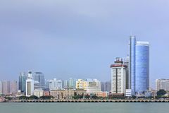 Ορίζοντας Xiamen με τη σύγχρονη αρχιτεκτονική, Κίνα Στοκ Φωτογραφία