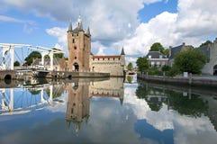 Ορίζοντας Zierikzee με την αρχαία πύλη πόλεων Στοκ φωτογραφίες με δικαίωμα ελεύθερης χρήσης