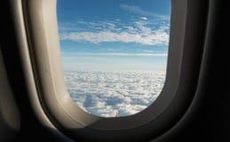 ορατό φτερό όψης αεροπλάνων αεριωθούμενων αεροπλάνων μηχανών Στοκ Εικόνες