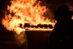 Οργάνωση πυρκαγιάς Dumpster Στοκ φωτογραφίες με δικαίωμα ελεύθερης χρήσης