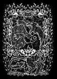 οργή Η λατινική λέξη Ira σημαίνει το θυμό Έννοια επτά θανάσιμη αμαρτιών, άσπρη σκιαγραφία στο μαύρο υπόβαθρο Συρμένο χέρι χαραγμέ διανυσματική απεικόνιση