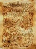 οργή Η λατινική λέξη Ira σημαίνει AngerEnvy Η λατινική λέξη Invidia σημαίνει τη ζηλοτυπία Έννοια επτά θανάσιμη αμαρτιών στο παλαι ελεύθερη απεικόνιση δικαιώματος