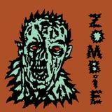 Οργή του zombie επίσης corel σύρετε το διάνυσμα απεικόνισης διανυσματική απεικόνιση