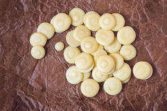 Οργανικά κουμπιά βουτύρου κακάου Στοκ φωτογραφία με δικαίωμα ελεύθερης χρήσης