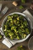 Οργανικά πράσινα ψημένα Florets μπρόκολου Στοκ Φωτογραφίες