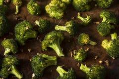Οργανικά πράσινα ψημένα Florets μπρόκολου Στοκ φωτογραφία με δικαίωμα ελεύθερης χρήσης
