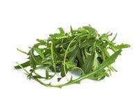 Οργανικά φύλλα arugula που απομονώνονται Στοκ Εικόνα