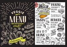 Οργανικές επιλογές για το εστιατόριο Διανυσματικό ιπτάμενο τροφίμων για το φραγμό και τον καφέ Στοκ Φωτογραφία