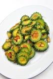 οργανική σαλάτα πιάτων karela Στοκ φωτογραφία με δικαίωμα ελεύθερης χρήσης
