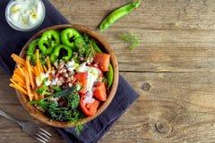 Οργανική φυτική σαλάτα στοκ εικόνες
