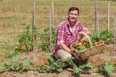 Οργανικός αγρότης στοκ εικόνα με δικαίωμα ελεύθερης χρήσης