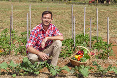 Οργανικός αγρότης στοκ φωτογραφίες με δικαίωμα ελεύθερης χρήσης