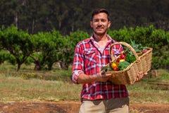 Οργανικός αγρότης στοκ φωτογραφία με δικαίωμα ελεύθερης χρήσης