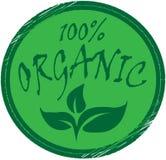 Οργανικός, πράσινο οργανικό γραμματόσημο 100 τοις εκατό ελεύθερη απεικόνιση δικαιώματος