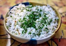 Οργανικό άσπρο ρύζι Στοκ Φωτογραφία