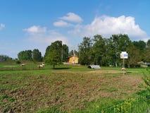 Οργανικό αγρόκτημα άνοιξη στοκ φωτογραφίες