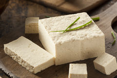Οργανικό ακατέργαστο Tofu σόγιας Στοκ Εικόνα
