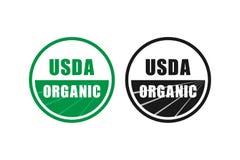 Οργανικό επικυρωμένο σύμβολο γραμματοσήμων USDA κανένα διανυσματικό εικονίδιο ΓΤΟ ελεύθερη απεικόνιση δικαιώματος