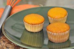 Οργανικό καρότο cupcakes Στοκ φωτογραφία με δικαίωμα ελεύθερης χρήσης