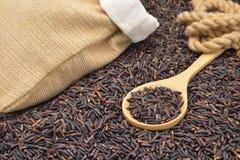 Οργανικό καφετί ρύζι Στοκ φωτογραφίες με δικαίωμα ελεύθερης χρήσης