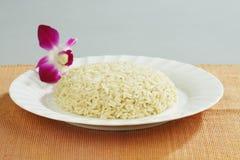 οργανικό λευκό ρυζιού Στοκ Εικόνες