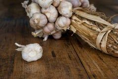 Οργανικό σκόρδο Στοκ Εικόνες