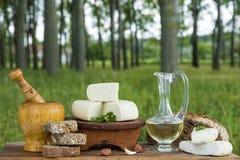 Οργανικό τυρί αιγών Στοκ Φωτογραφία