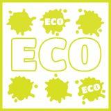 Οργανικό φυσικό και εικονίδιο τροφίμων eco Στοκ εικόνα με δικαίωμα ελεύθερης χρήσης