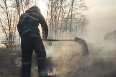 Οργιμένος δασικές πυρκαγιές άνοιξη Καίγοντας ξηρά χλόη, κάλαμος κατά μήκος της λίμνης Η χλόη καίει στο λιβάδι Οικολογική καταστρο στοκ εικόνα με δικαίωμα ελεύθερης χρήσης