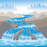Οργιμένος νερό διανυσματική απεικόνιση