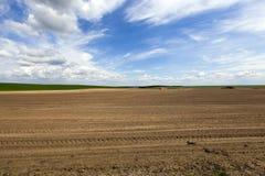 Οργωμένη αγροτική γη Στοκ Φωτογραφίες