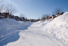 οργωμένο χιόνι στοκ εικόνα με δικαίωμα ελεύθερης χρήσης