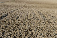 οργωμένο χώμα Στοκ Εικόνες