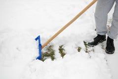 οργώνοντας χιόνι Στοκ φωτογραφία με δικαίωμα ελεύθερης χρήσης