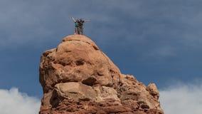 Ορειβάτες βράχου στην κορυφή Στοκ φωτογραφίες με δικαίωμα ελεύθερης χρήσης