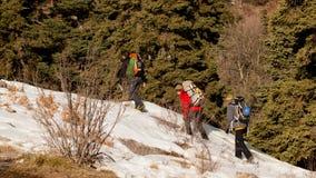 Ορειβάτες πάγου Στοκ Φωτογραφίες