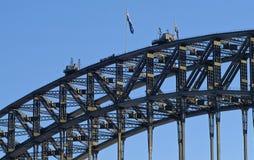 Ορειβάτες πάνω από τη λιμενική γέφυρα του Σίδνεϊ Στοκ φωτογραφία με δικαίωμα ελεύθερης χρήσης