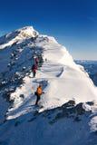 Ορειβάτες στην ανάβαση Στοκ φωτογραφίες με δικαίωμα ελεύθερης χρήσης