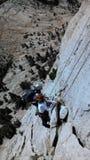 Ορειβάτες στον τοίχο Στοκ φωτογραφία με δικαίωμα ελεύθερης χρήσης