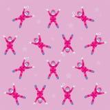 Ορειβάτες στο ροζ Στοκ Φωτογραφίες