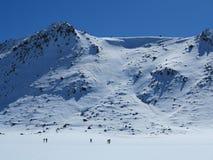 Ορειβάτες tongariro ΑΜ Στοκ Φωτογραφία